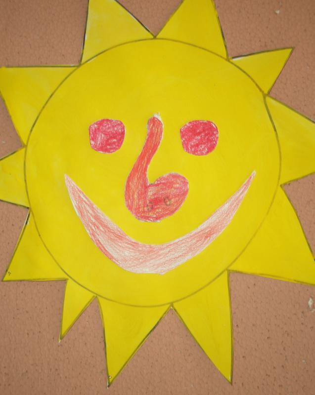 Sluníčkové malování, obrázek se otevře v novém okně