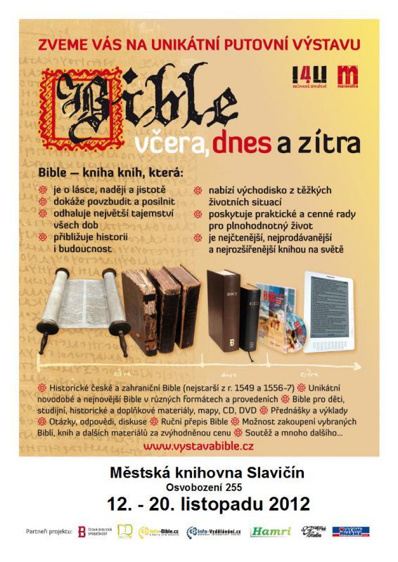 Bible, včera, dnes a zítra - pozvánka 2012, obrázek se otevře v novém okně
