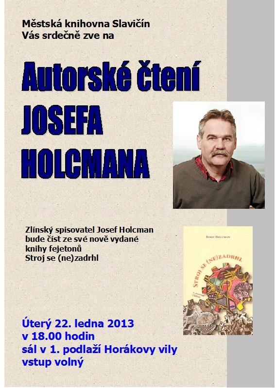 Pozvánka - Autorské čtení J. Holcman 2013, obrázek se otevře v novém okně