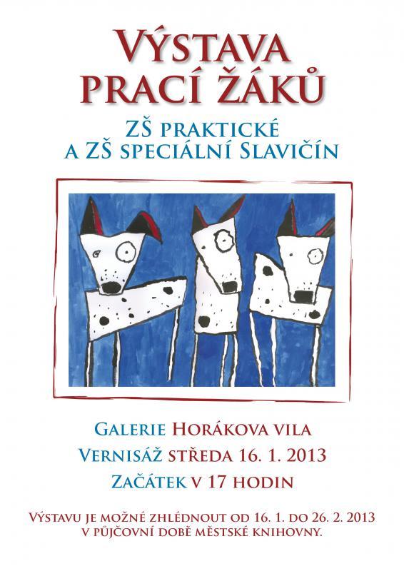 Pozvánka - Výstava ZŠ praktická a ZŠ speciální 2013, obrázek se otevře v novém okně