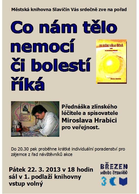 Pozvánka - M. Hrabica - přednáška 2013, obrázek se otevře v novém okně