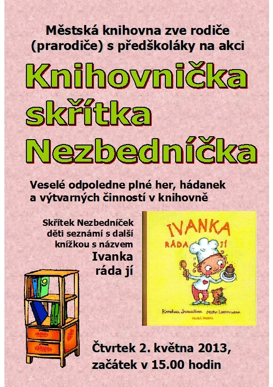 Pozvánka Nezbedníček - 2013, obrázek se otevře v novém okně