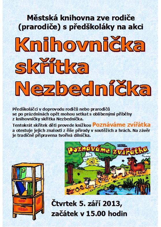 Pozvánka - Beseda - Stanislav Zábojník - září 2013, obrázek se otevře v novém okně