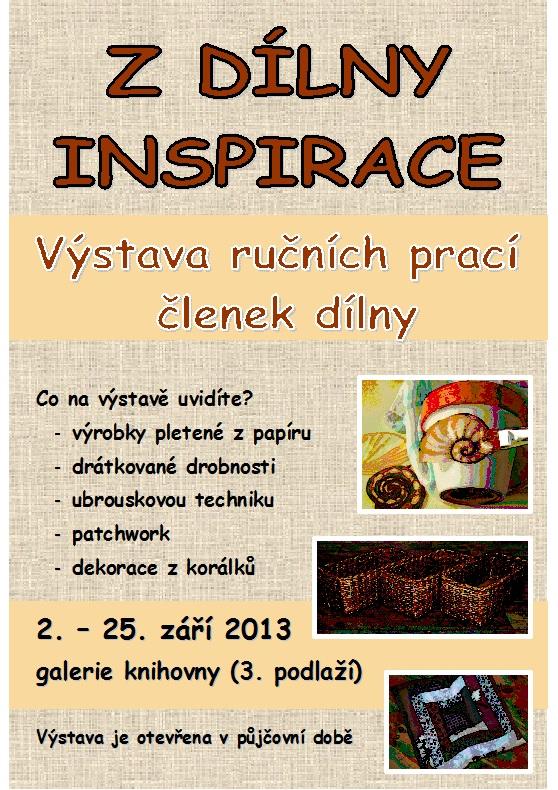 Pozvánka - Z Dílny inspirace - výstava září 2013, obrázek se otevře v novém okně