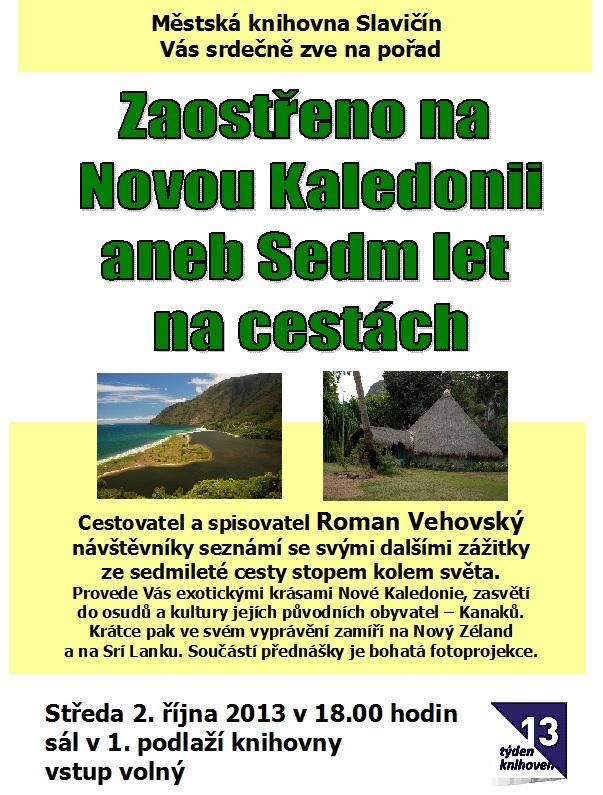 Beseda - R. Vehovský - Nová Kaledonie 2013, obrázek se otevře v novém okně