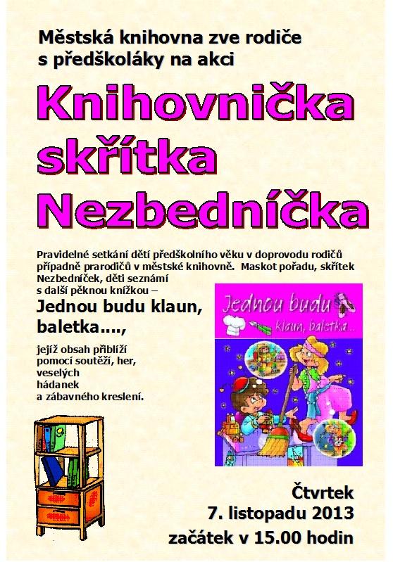 Plakát - Nezbedníček listopad 2013, obrázek se otevře v novém okně