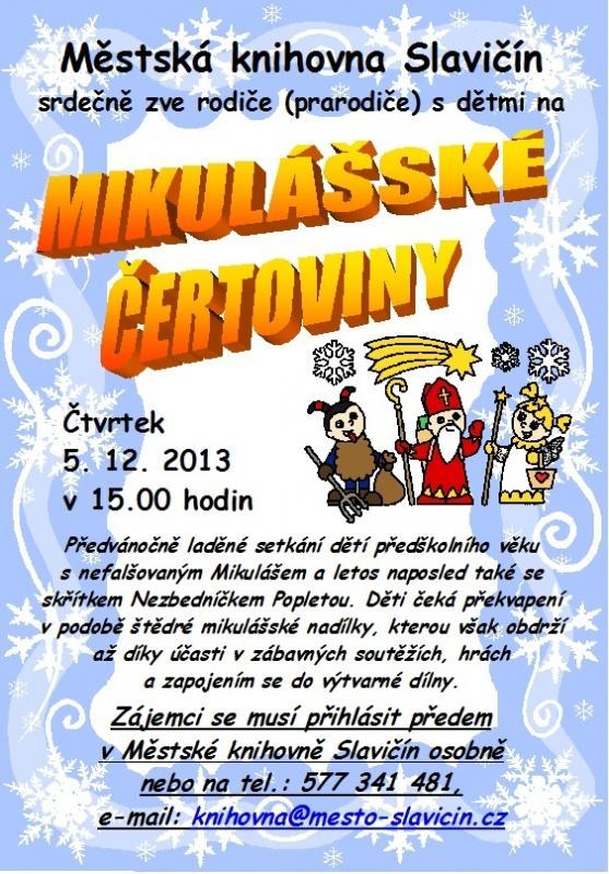 Mikulášské čertoviny 2013 - plakát, obrázek se otevře v novém okně