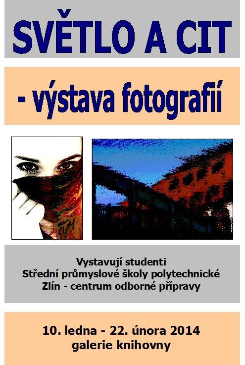 Pozvánka - Světlo a cit - výstava 2013, obrázek se otevře v novém okně
