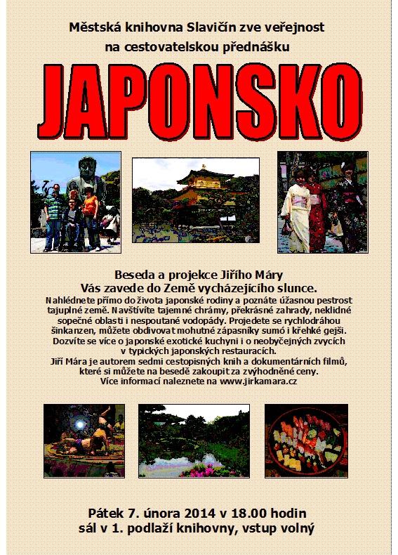 Pozvánka - Japonsko - Jiří Mára 2013, obrázek se otevře v novém okně