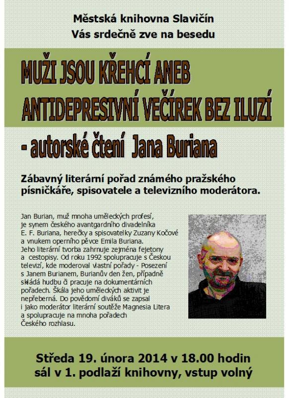 Pozvánka - Jan Burian 2013, obrázek se otevře v novém okně