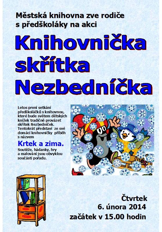 Pozvánka - Nezbedníček - leden 2013, obrázek se otevře v novém okně