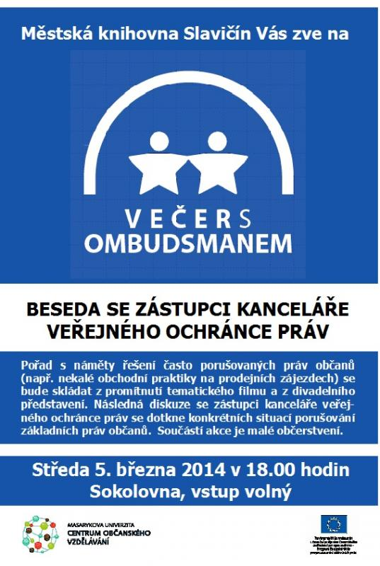 Pozvánka BMČ 2014   Večer s Ombudsmanem, obrázek se otevře v novém okně