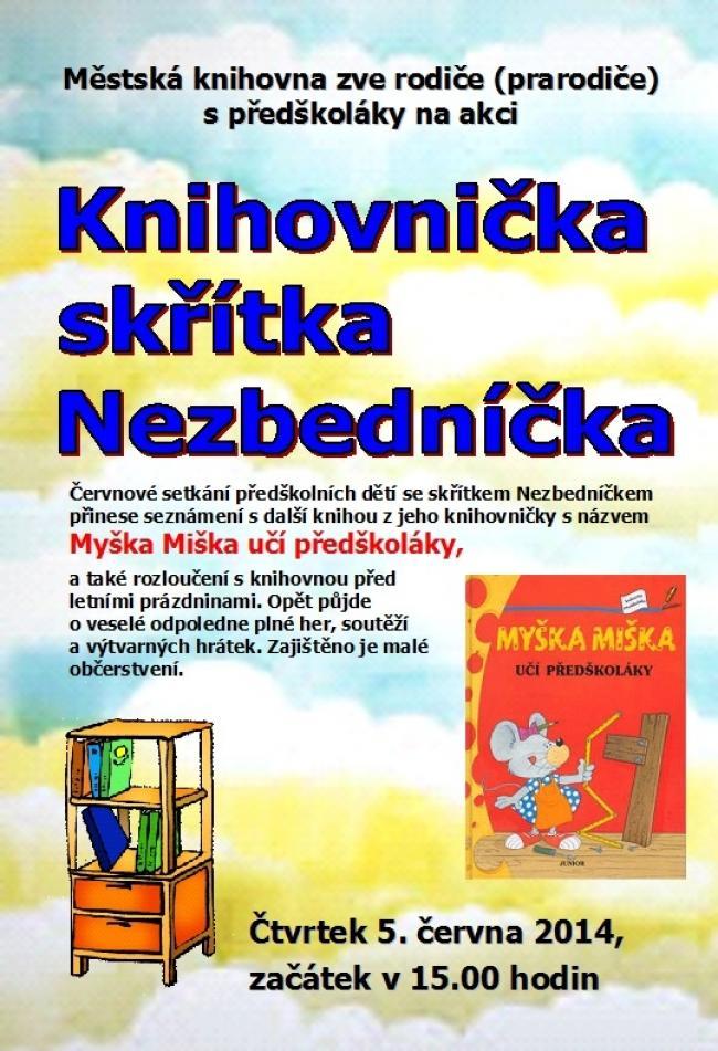 Pozvánka - Nezbedníček - červen 2014, obrázek se otevře v novém okně