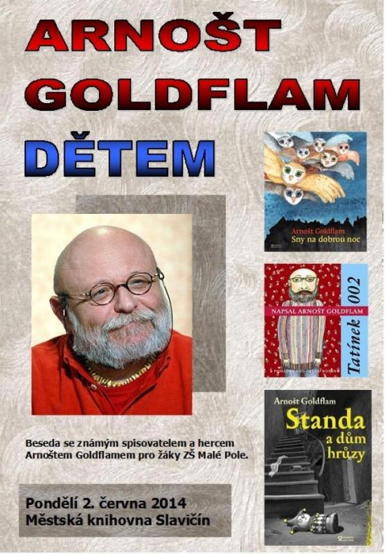 Pozvánka - Arnošt Goldflam dětem 2014, obrázek se otevře v novém okně