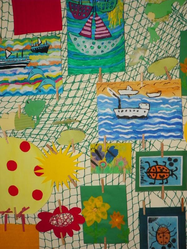 Výstava Sluníčkové malování - ZŠ MP 2014, obrázek se otevře v novém okně