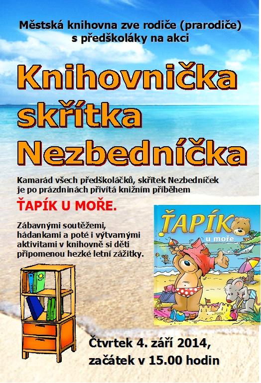 Nezbedníček   Ťapík u moře, obrázek se otevře v novém okně
