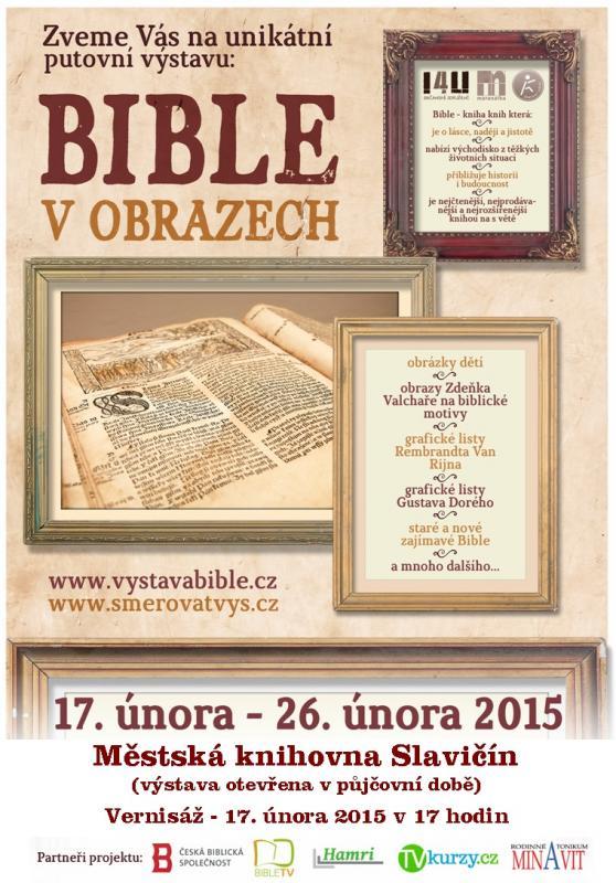 Pozvánka - Bible v obrazech 2015, obrázek se otevře v novém okně