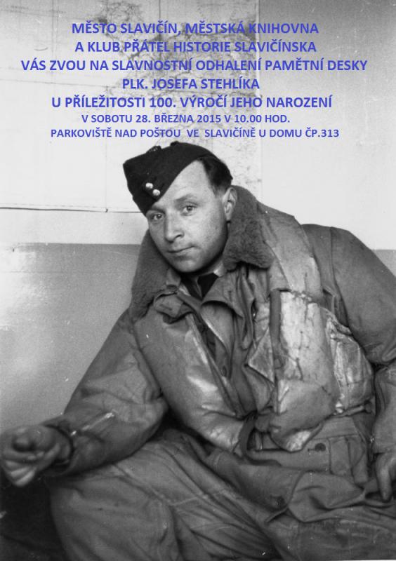 Odhalení pam. desky - J. Stehlík 2015, obrázek se otevře v novém okně