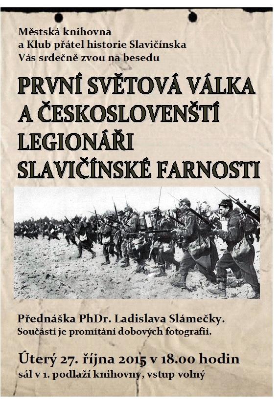 První světová válka a legionáři sl  farnosti L  Slámečka, obrázek se otevře v novém okně