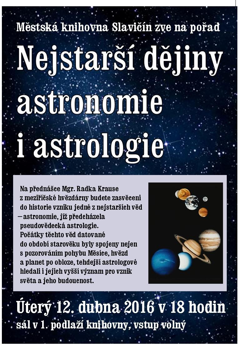 Nejstarší dějiny astronomie i astrologie, obrázek se otevře v novém okně