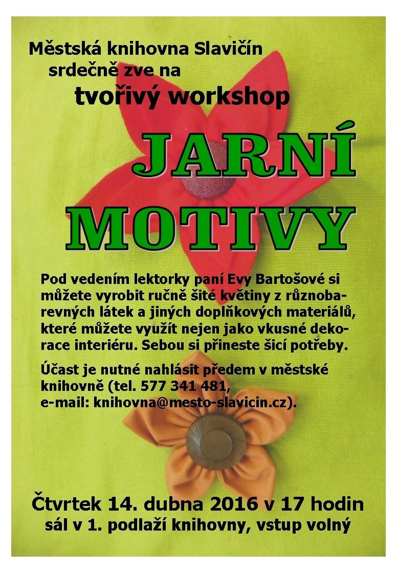 Jarní motivy   workshop, obrázek se otevře v novém okně