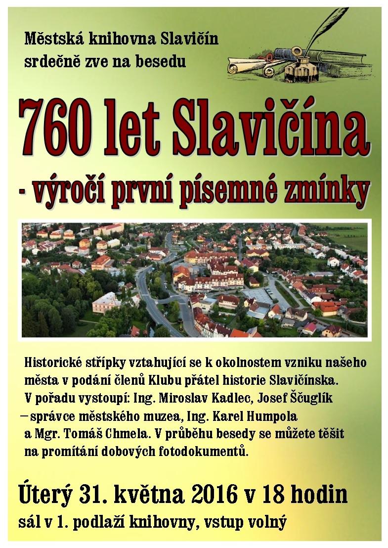 760 let Slavičína, obrázek se otevře v novém okně