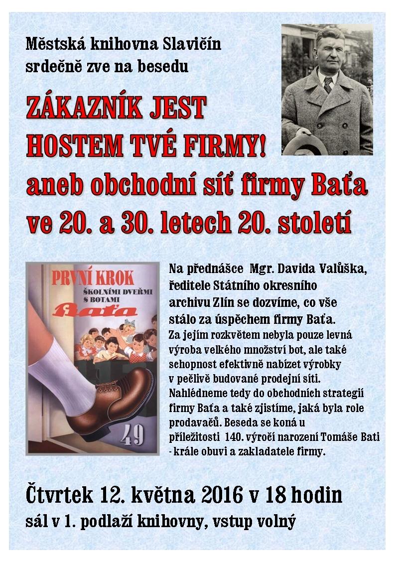 Zákazník jest hostem tvé firmy! Baťa 140  výr  D  Valůšek, obrázek se otevře v novém okně